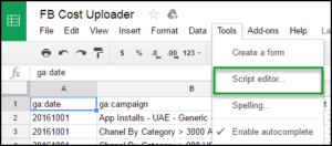 google-spreadsheet-google-analytics-cost-import