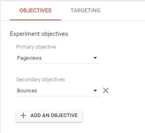 experiment-objective-google-optimize
