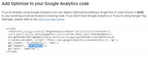 google-optimize-container-id