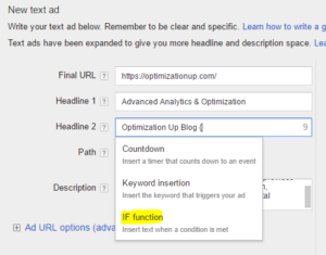 AdWords if functions